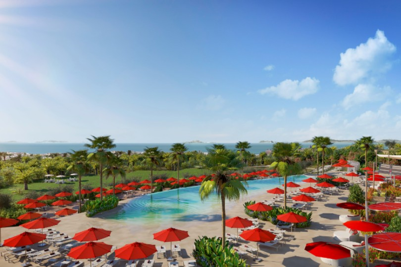 """Magna Marbella will offer 14 hectares of garden, five swimming pools, a family waterpark, an adult-only """"zen zone"""", two restaurants, a """"gourmet lounge"""" and three bars"""