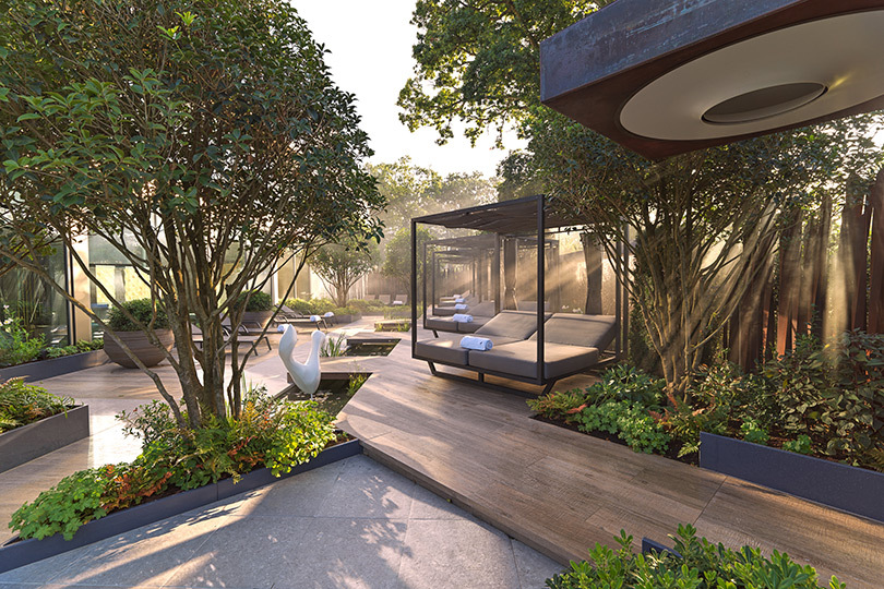 The gardens at The Club at Cottonmill are part of the allure