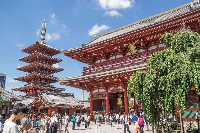 Tokyo's Sensoji Temple is among attractions to have been updated with accessibility features in the form of a lift (Credit: InsideJapan Tours)
